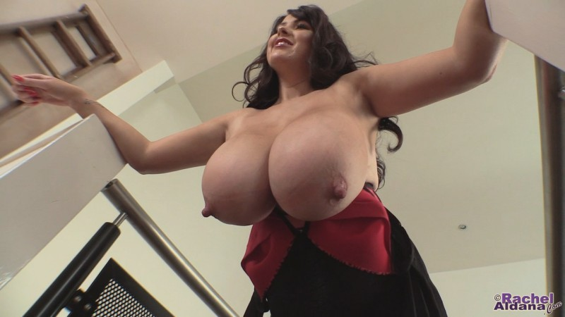 Rachel Aldana   Large Tits Little Black Dress 1 720p