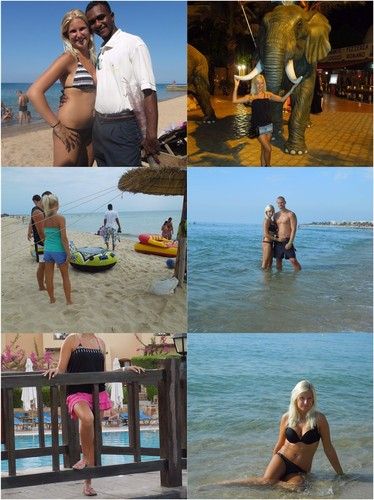 Couples holiday with sweet blonde girl