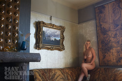 Glamour model Jess Davies topless Behind The Scenes 7