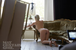 Glamour model Jess Davies topless Behind The Scenes 15