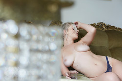 Glamour model Jess Davies topless Behind The Scenes 17