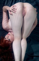 Naked redhead pussy bent over