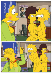 Marge and Lisa Simpsons go Lesbian