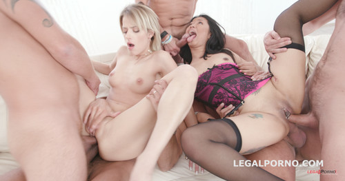 LegalPorno.com - Some Kind of Monster with Ria Sunn & Jureka Del Mar TP / Tunnel View DP / Squirt To Mouth / Gapes / Prolapse Licking GIO454