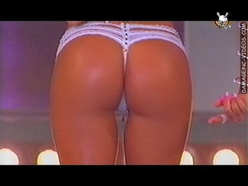 Luciana Salazar hot booty in g-string thong