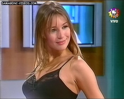 Pampita sexy boobs in black