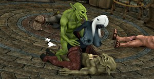 Redleatherart The Trouble with Goblins