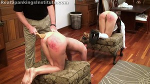Two Girls In Uncomfortable Positions Spanked Hard By The Dean (part 4 Of 4) - image5