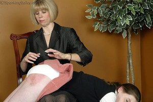 Ms. Burns Gives Bailey A Hand Spanking - image4
