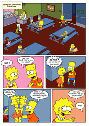 Busted with Bart and Lisa from The Simpsons by Gundam888