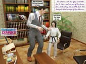 Dad & Daughter Diaries - Karate Team - 3d incest comic